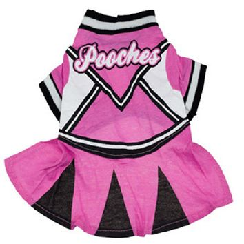 Cheerleading Dress For Dogs Pet Pink Skirt Clothes For Dogs Cats Maltese Yorkshire Chiwawa Costume