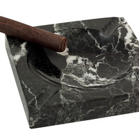 Marble Cigar Ashtray, Black/White, Cigar Accessories & Humidors