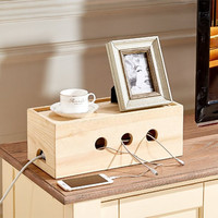 Wooden Cable Cubby