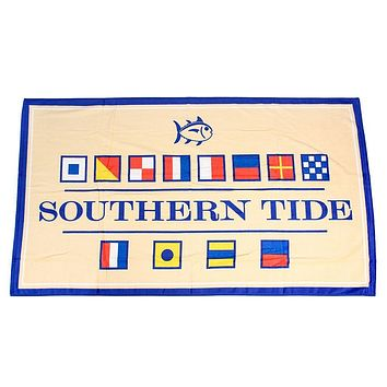 Nautical Flag Beach Towel in Pineapple by Southern Tide