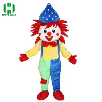 High Quality Carnival Clown Birthday Party Clown suit Mascot Costume