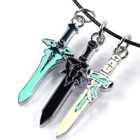 Sword Art Online Japanese Mini Swords Necklace