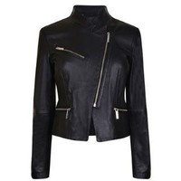 MICHAEL MICHAEL KORS Asymmetric Leather Jacket - Flannels