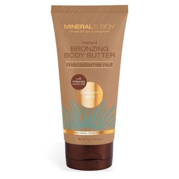 Mineral Fusion Instant Bronzing Body Butter, Med/Dark - 5 Oz