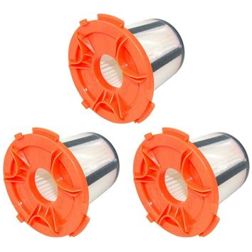 3 Pack Felji H12 DCF-24 Vacuum Dust Cup Filters for Eureka 955A Compact Canister Vacuum Cleaner Part # 68950