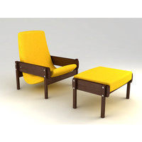 Vronka Armchair by Sergio Rodrigues