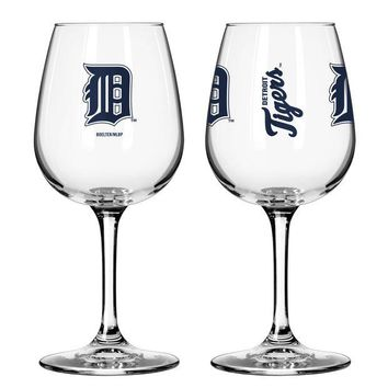 ONETOW MLB Boelter Brand Detroit TIgers 12oz Game Day Wine Glass
