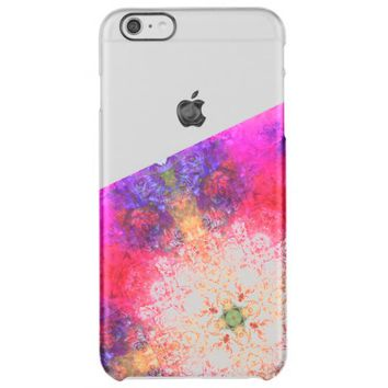 Cool Colorful Bright Psychedelic Rose Pattern Uncommon Clearly™ Deflector iPhone 6 Plus Case