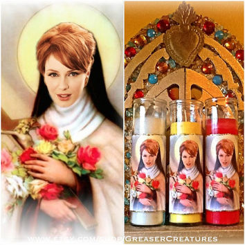 Saint Joan Holloway Prayer Candle. What Would Joanie Do? Mad Men, Retro, Mod, Christina Hendricks