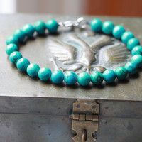 Mens David Yurman Style Mens Bracelet - TURQUOISE
