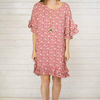Elise Ruffled Sleeve Dress