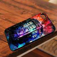 tardis doctor who art paint design - for iPhone 4/4S,5 case iphone 4/4s/5 Case Hard Plastic Cover