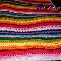 Striped Rainbow Afghan