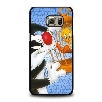 sylvester and tweety looney tunes samsung galaxy s6 edge plus case cover  number 1