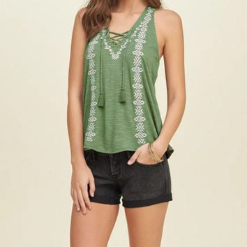 Vintage Tank Tops Casual  Style  Tops