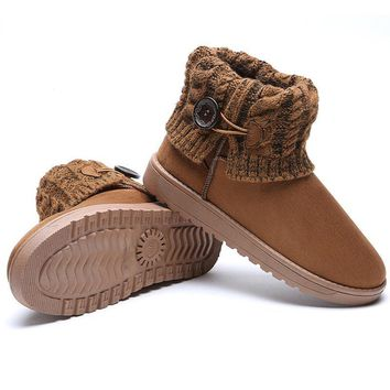Female Women Snow Boots Slim winter Boots Fashion Ankle Boots flat Botas Women winter