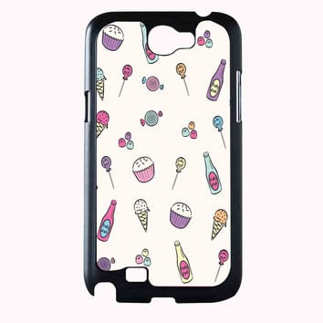 ice cream cake pattern FOR SAMSUNG GALAXY NOTE 2 CASE**AP*