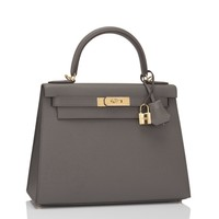 Hermes Etain Epsom Sellier Kelly 28cm Gold Hardware