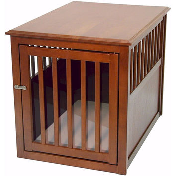 Crown Pet Crate Table, Medium size, with Mahogany Finish