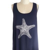 ModCloth Nautical Mid-length Tank top (2 thick straps) Starring Role Top