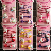 Fashion Children Headwear Elegant Hello Kitty Hair Clips Gum Elastic Bands Hair Accessories Barrettes Scrunchies For Baby