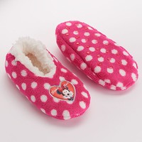 Disney's Minnie Mouse Polka-Dot Slippers - Toddler Girl (Red)