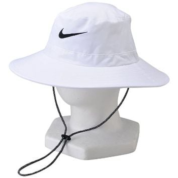 NEW Nike Sun Bucket Hat White Black Fitted M L Fitted Hat Cap 5241e7bc9b8