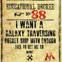 Harry Potter Inspired Educational Decree I Want a by MudInMyBlood