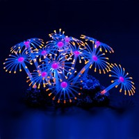Glowing Effect Artificial Coral Plant for Fish Tank, Decorative Aquarium Ornament