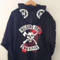 "Pullover Hoodie - Walking Dead (Picture showing the back of the hoodie, click ""buy"" to see front!)"