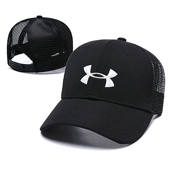 Under Armour Women Men Embroidery Sports Sun Hat Baseball Cap Hat Black