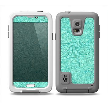 The Teal Leaf Laced Pattern Skin Samsung Galaxy S5 frē LifeProof Case