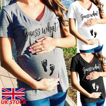 New Plus Size S-3XL Pregnant Womens Summer T-shirt Short Sleeve Tops Casual Maternity Clothing Pregnancy Loose Cotton T Shirt