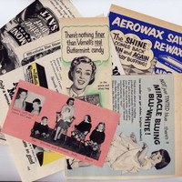 Happy Housewife 1954 Advertising Ephemera Scrap-Pack