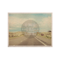 "Jillian Audrey ""Go Onward to Great Adventures"" Typography KESS Naturals Canvas (Frame not Included)"