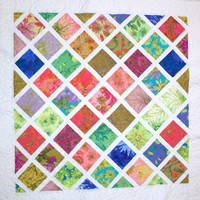 Vibrant Floral Quilt by gmaronda on Etsy