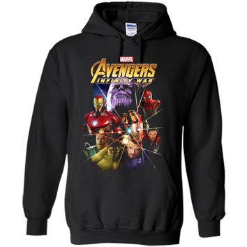 Marvel Avengers Infinity War Gauntlet Prism Graphic  Pullover Hoodie 8 oz