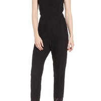 cupcakes and cashmere Evita Lace Jumpsuit | Nordstrom