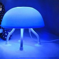 The Best Christmas Gift Colorful DIY LED Jellyfish Lamp Desk Lamp Small Night Light x1