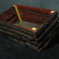 hand crafted crate, natural wood urethane finished.