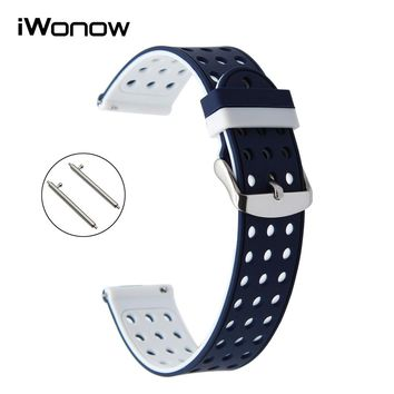 Quick Release Silicone Rubber Watchband for Omega Tissot Longines Mido Watch Band Strap 17mm 18mm 19mm 20mm 21mm 22mm 23mm 24mm
