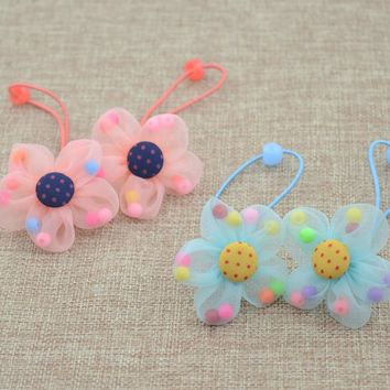 Daisy Party Ponytail Holders