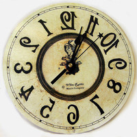Backwards clock Alice in Wonderland