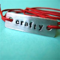 Custom Single Word Tie On Bracelet - Spiffing Jewelry