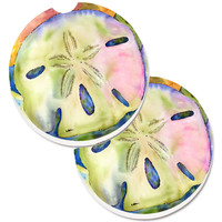 Sand Dollar Set of 2 Cup Holder Car Coasters 8545CARC