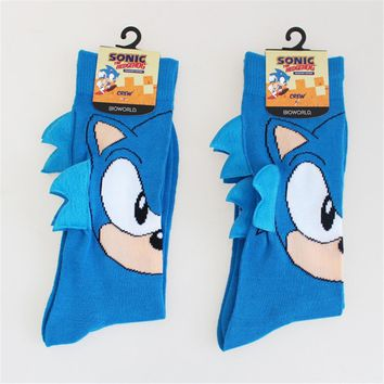 cosplay game Sonic the Hedgehog General Socks Sonic Knee-High Warm Stitching pattern Antiskid Invisible Casual Socks Christmas