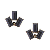 Trio Black Stud Earrings