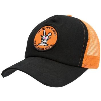 LMFON Happy Bunny - Warm Inside Distressed Trucker Cap