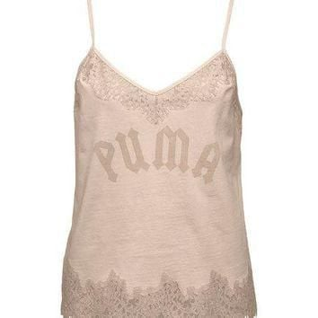 Fenty Puma by Rihanna Lace-Trim Sleepwear Camisole Top, Pink