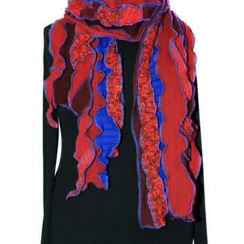 Scarf, Red and Blue